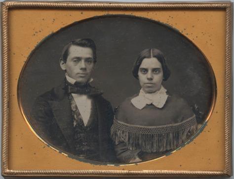 Anonymous Couple, 1/4 plate Daguerreotype