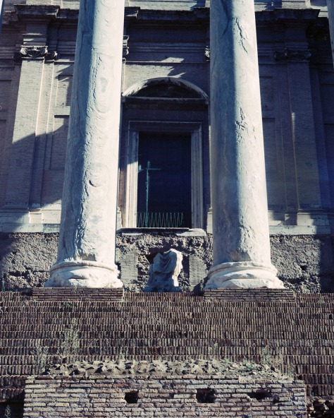 Columns and steps, Temple of Antinous and Faustina