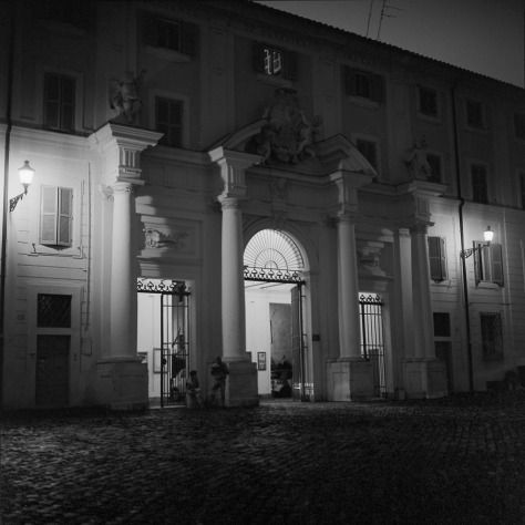 Exterior, Gates to Santa Cecilia, Night