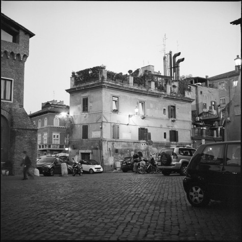 Piazza dei Mercanti, Evening, from the Piazza Santa Cecilia