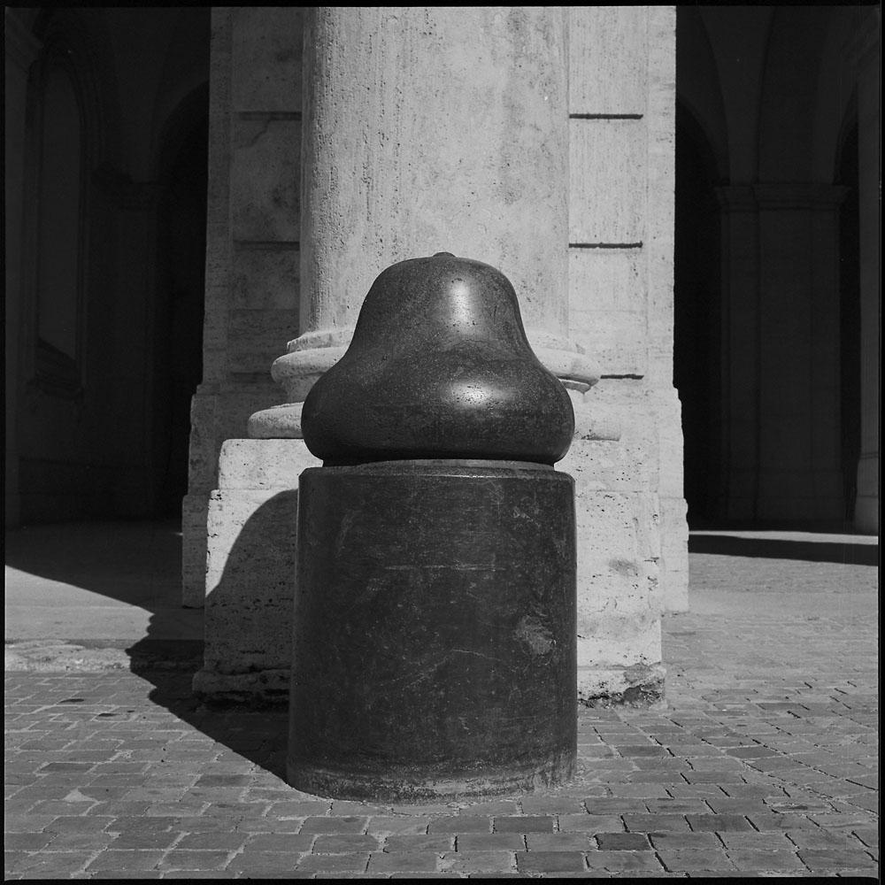 Red Granite Bollard, Palazzo Barberini