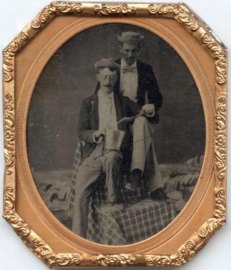 Occupational Tintype - Two Plasterers