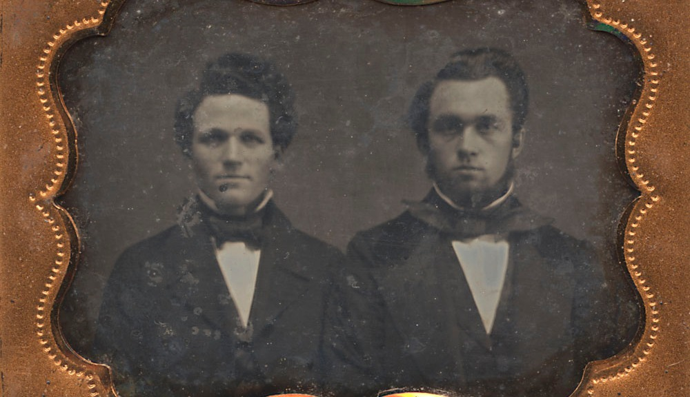 Ninth-Plate Daguerreotype, Two Brothers