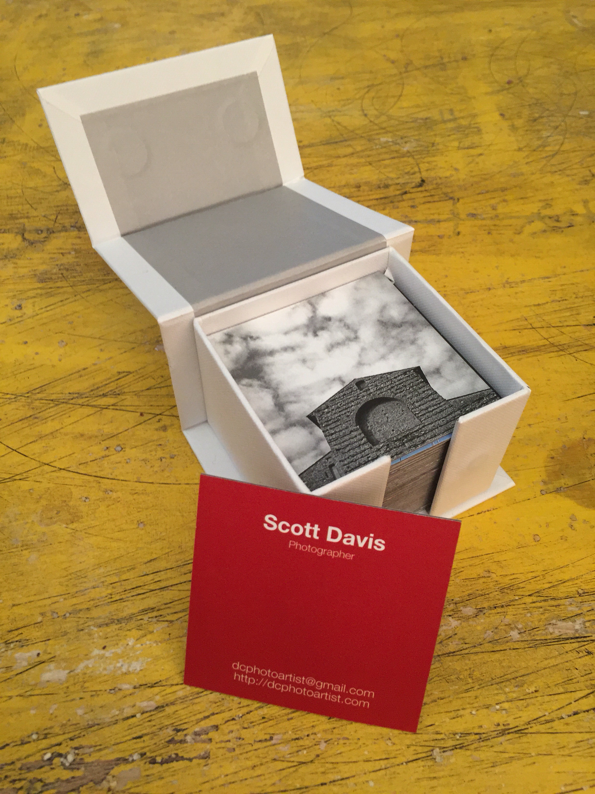 business card portfolio box, by Moo