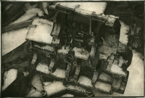 Scrap Yard, Winter, by Hendrik Faure