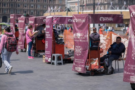 Shoe Shine Booths, Zocalo
