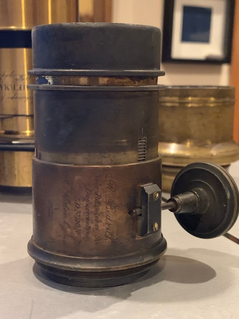 R. Beard Daguerreotype lens, by T. Slater, Optician, London